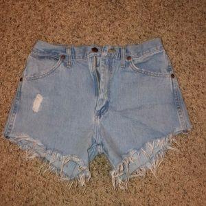 Free People Wrangler Cut off denim shorts
